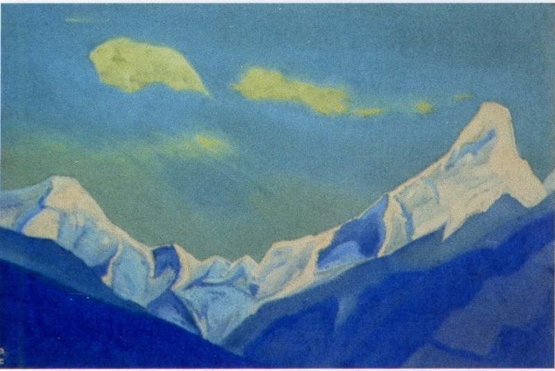 The Himalayas # 107 Clouds over the snowy peak. Roerich N.K. (Part 5)