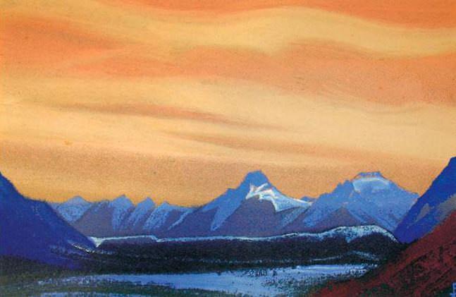 Гималаи #7 Золотое небо. Рерих Н.К. (Часть 5)