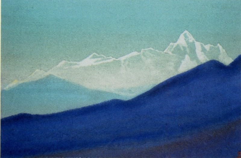 The Himalayas # 29 The Pearl Ridge. Roerich N.K. (Part 5)