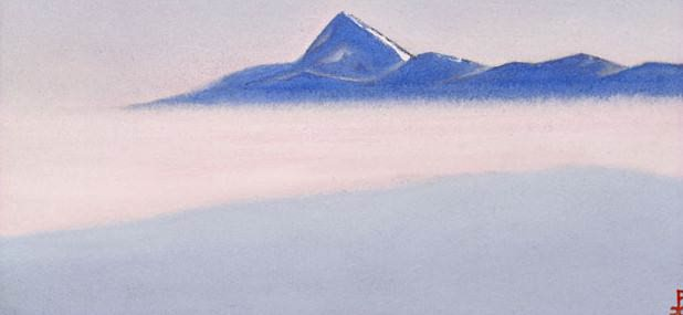 Chumolhari # 63 Chomolhari (Sea mist). Roerich N.K. (Part 5)