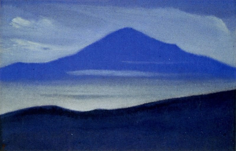 Mists # 62 (mountain top silhouette). Roerich N.K. (Part 5)