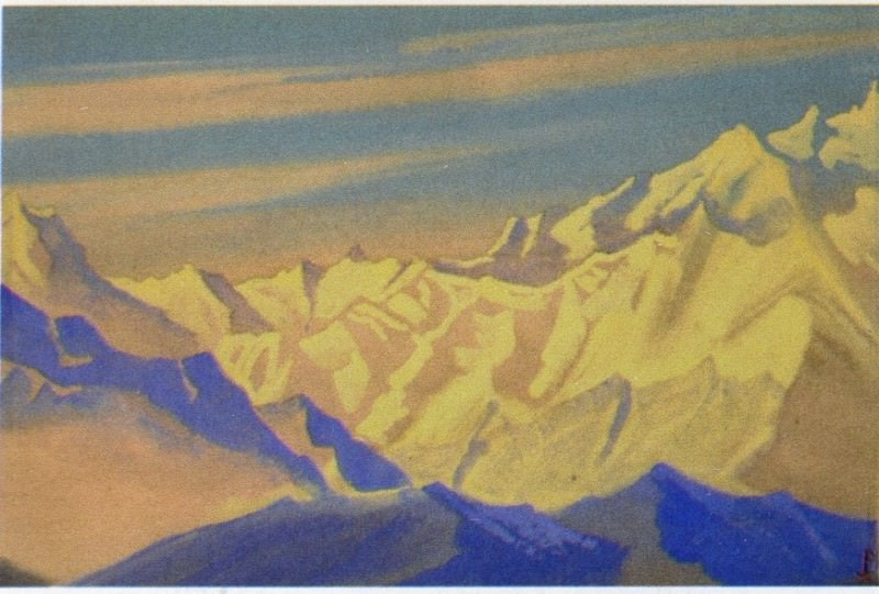The Himalayas # 49 The Unapproachable Mountain Range. Roerich N.K. (Part 5)