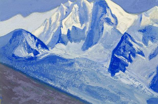The Himalayas # 119 The Snow Wall. Roerich N.K. (Part 5)