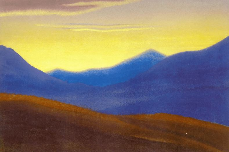 The Himalayas # 19 The sun went down. Roerich N.K. (Part 5)