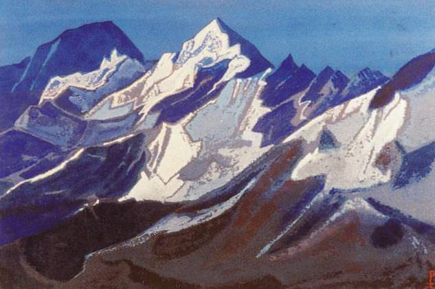 Himalayas # 90 Glittering snow. Roerich N.K. (Part 5)