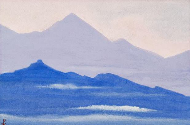 Himalayas # 63 Purple distance. Roerich N.K. (Part 5)