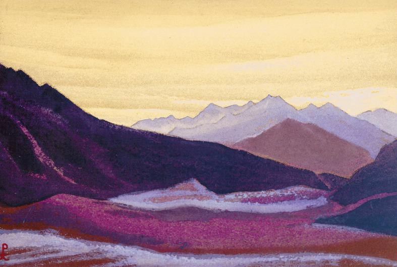 The Himalayas # 75 Gloomy dawn. Roerich N.K. (Part 5)