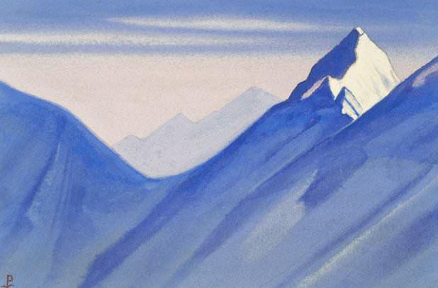 Himalayas # 70 impregnable top. Roerich N.K. (Part 5)