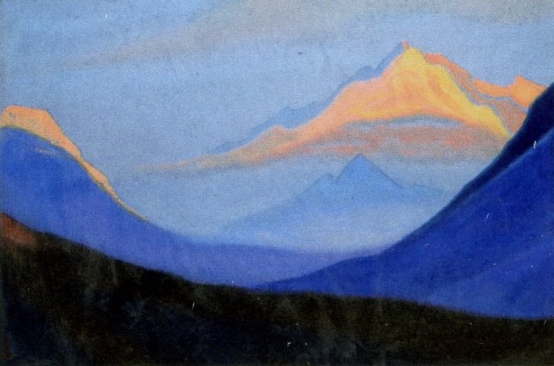 Himalayas # 202 Pink top. Roerich N.K. (Part 5)