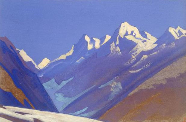The Himalayas # 36 Before the dawn. Roerich N.K. (Part 5)