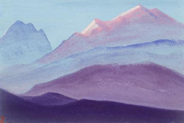 The Himalayas # 39 The Vision of the Fog. Roerich N.K. (Part 5)