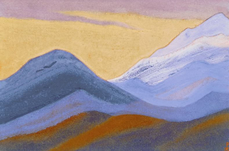 The Himalayas # 40 Evening Peace. Roerich N.K. (Part 5)