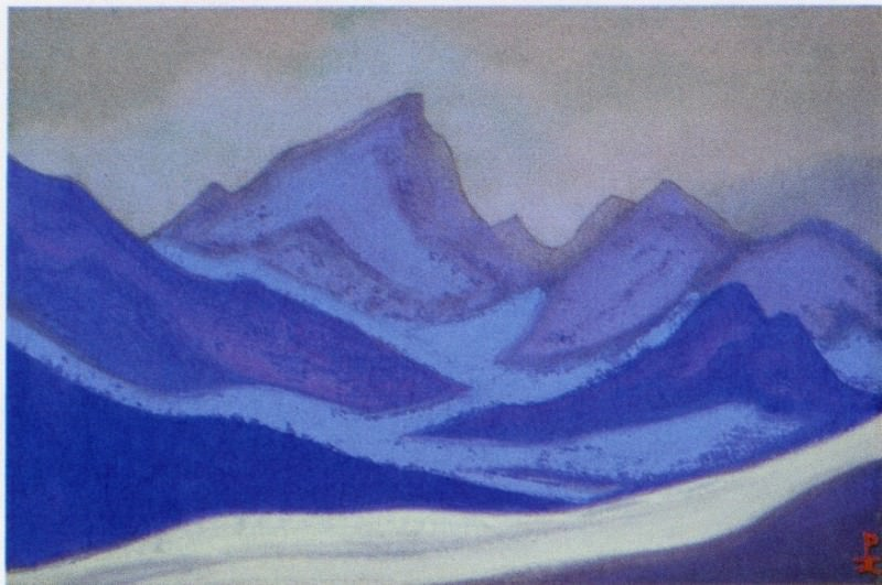 The Himalayas # 117 The Blue Glacier. Roerich N.K. (Part 5)