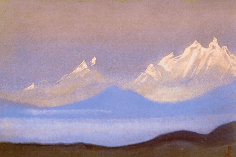 The Himalayas # 146 The snow at dawn. Roerich N.K. (Part 5)