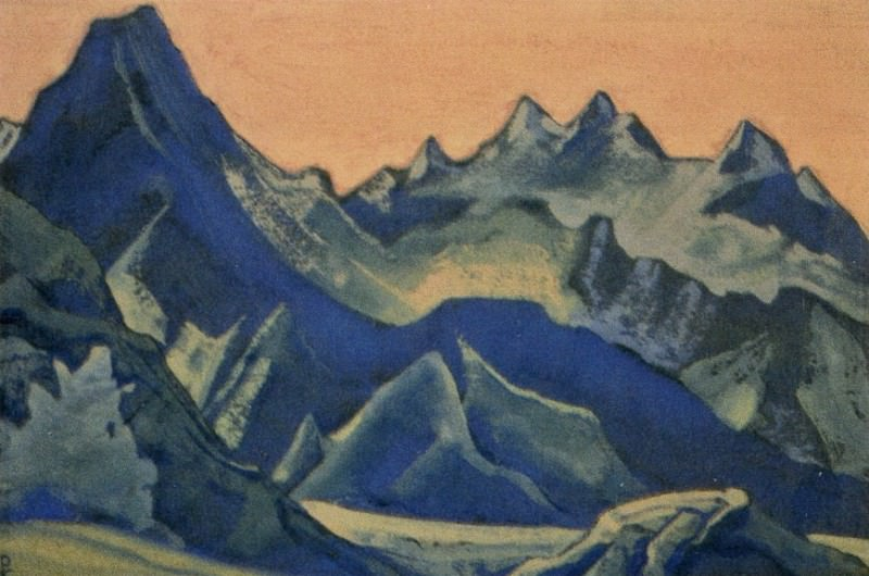 Гималаи #216 Синие вершины на рассвете. Рерих Н.К. (Часть 5)