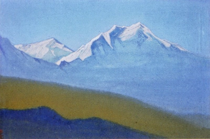 Himalayas # 57 Mountain illuminated morning rays. Roerich N.K. (Part 5)