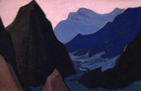 The Himalayas # 203 The Gloomy Rock. Roerich N.K. (Part 5)