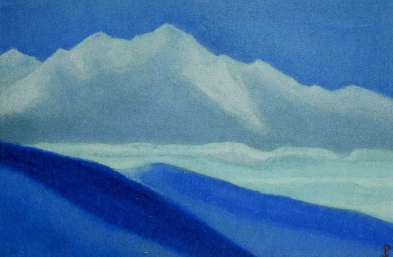 Himalayas # 45 Gray vertex. Roerich N.K. (Part 5)