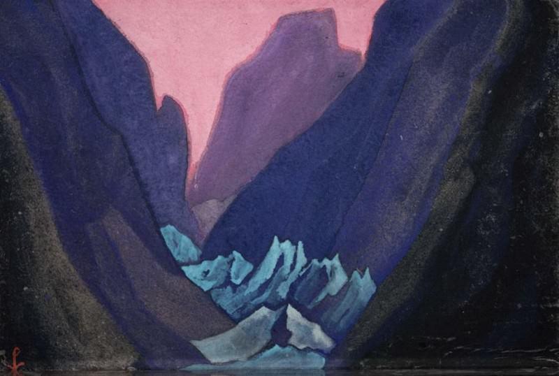 Glacier # 95 Glacier (blue gorge). Roerich N.K. (Part 5)