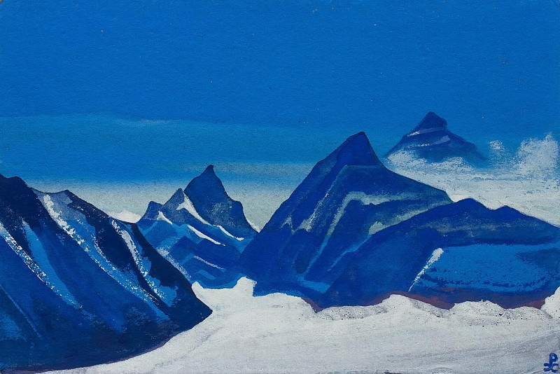 The Himalayas # 213 The Himalayas The blue mountains and glacier. Roerich N.K. (Part 5)