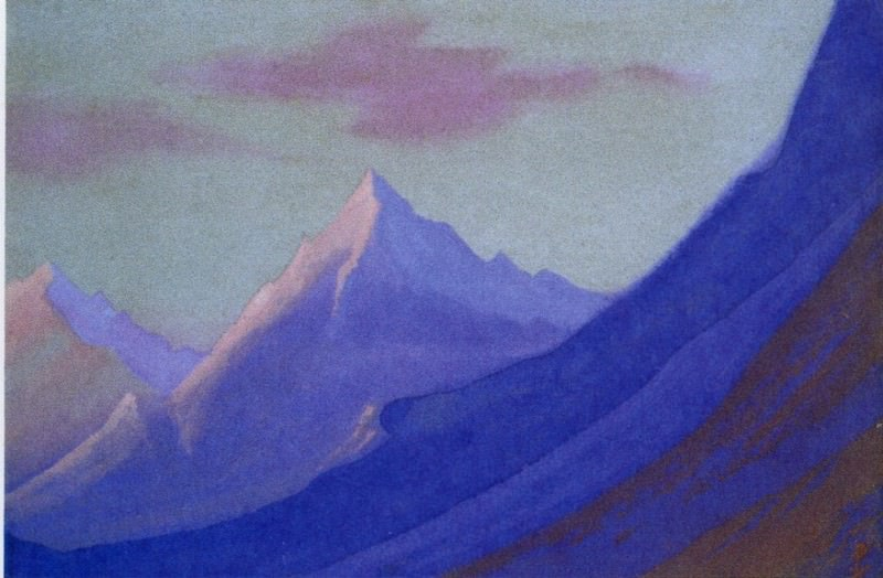 The Himalayas # 138 The dawn in the mountains. Roerich N.K. (Part 5)