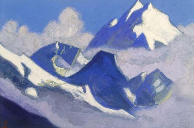 Glacier # 15 Glacier (Cloud dreams). Roerich N.K. (Part 5)