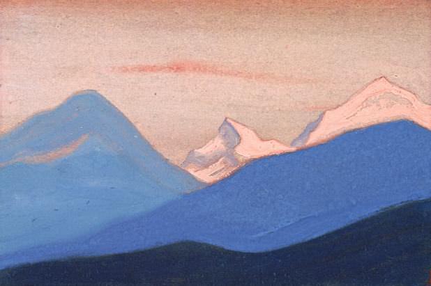 Гималаи #75 Розовый вечерний свет. Рерих Н.К. (Часть 5)