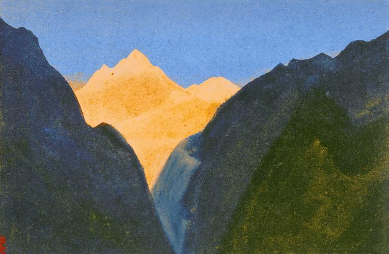 Gorge Gorge # 95 (flaming phenomenon vertex). Roerich N.K. (Part 5)
