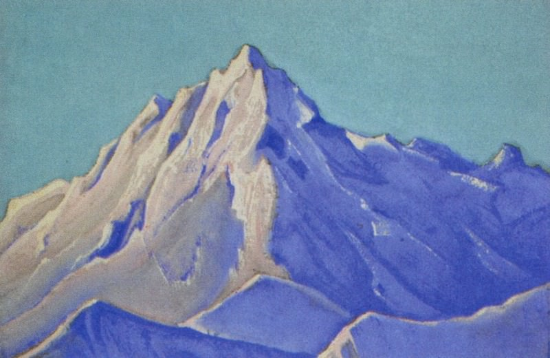 The Himalayas # 117 The summit in the sun. Roerich N.K. (Part 5)