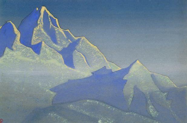 Evening - Kanchenjunga # 26 (Evening Kanchenjunga)].. Roerich N.K. (Part 5)