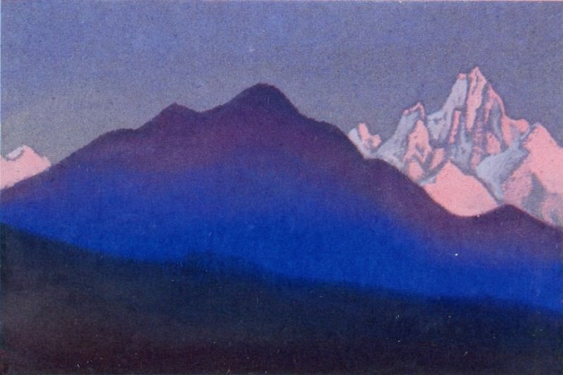 The Himalayas # 79 Sunset. Roerich N.K. (Part 5)