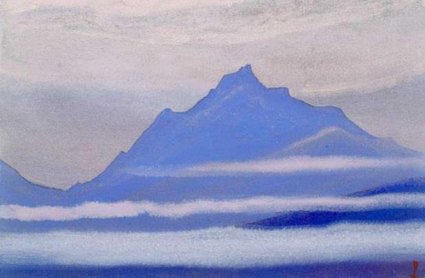The Himalayas # 132 The waves of fog. Roerich N.K. (Part 5)