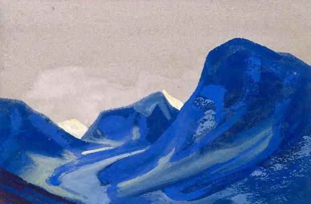 Glaciers # 59 glaciers (Purple tents). Roerich N.K. (Part 5)