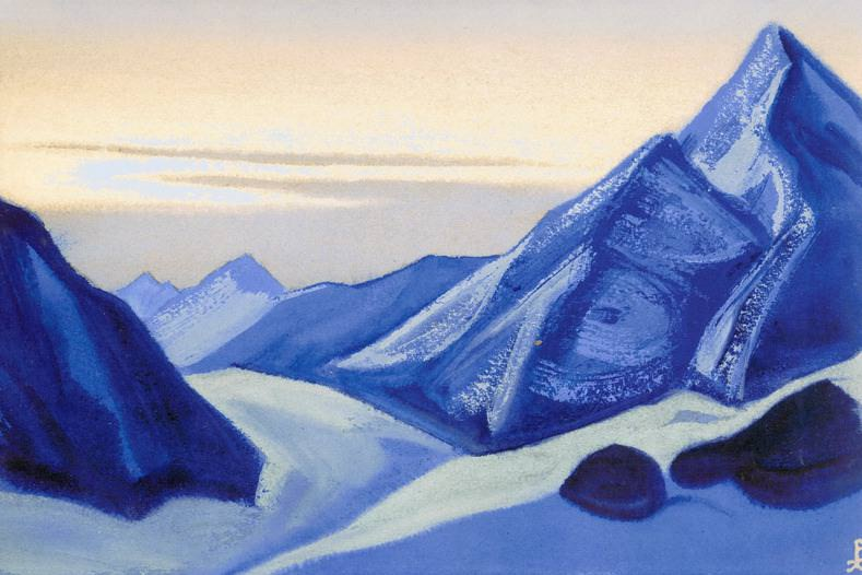 The Himalayas # 110 Pyramids of the blue mountains. Roerich N.K. (Part 5)