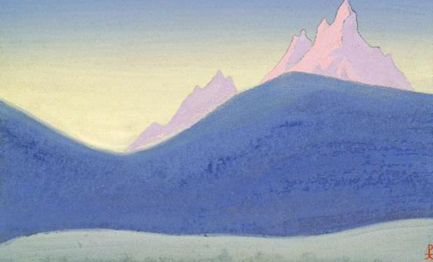 Himalayas # 39 Lilac burst. Roerich N.K. (Part 5)