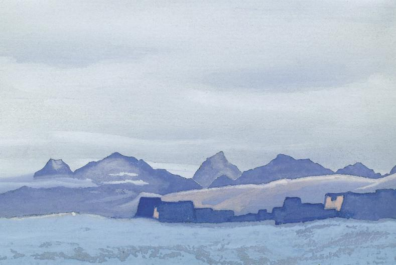 Tibet # 113 (Monastery in winter). Roerich N.K. (Part 5)