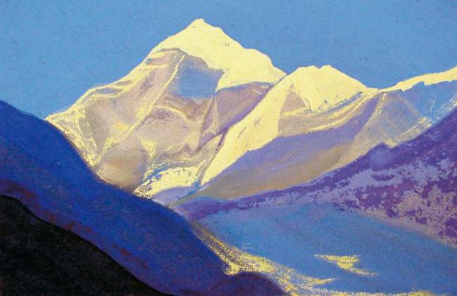 Himalayas # 79 Snow vertex. Roerich N.K. (Part 5)