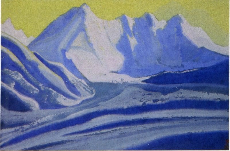 Гималаи #56 Золотое небо над ледником. Рерих Н.К. (Часть 5)