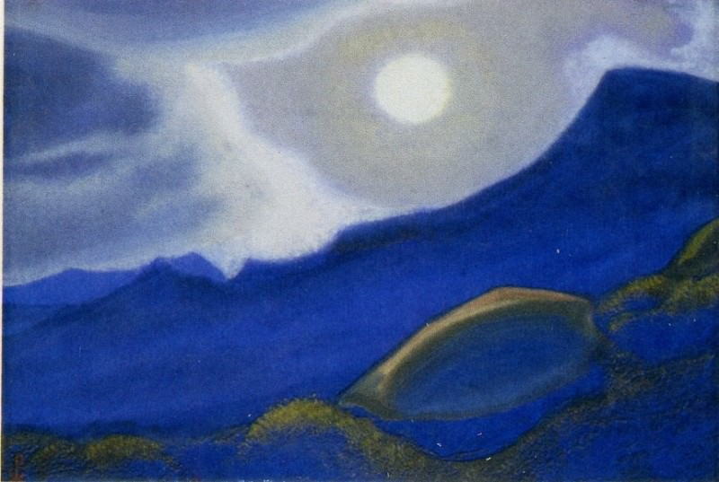 The stern # 52 (above the moon tops). Roerich N.K. (Part 5)