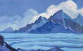 The Himalayas # 120 The cloud over the peaks. Roerich N.K. (Part 5)