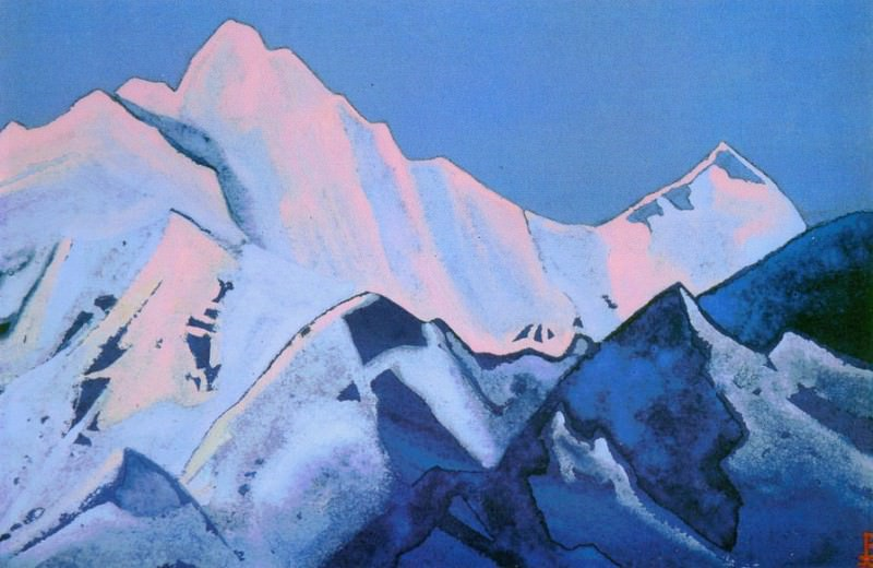 Himalayas # 92 Pink tops. Roerich N.K. (Part 5)