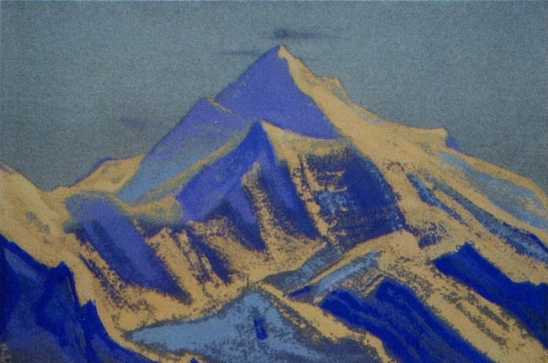 The Himalayas # 12 The morning sun on the tops. Roerich N.K. (Part 5)