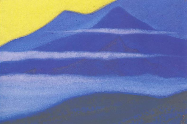 The Himalayas # 134 Evening Mists. Roerich N.K. (Part 5)