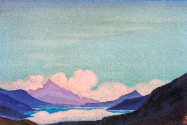 Mountain lake # 140 Mountain lake (Dongre Yum-tso). Roerich N.K. (Part 5)
