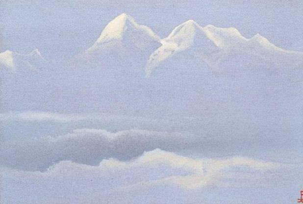 Himalayas # 96 Noctilucent mountain. Roerich N.K. (Part 5)