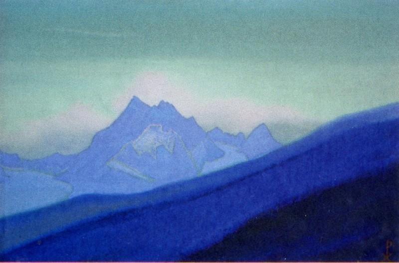 Himalayas # 104 Mountain peak at dawn. Roerich N.K. (Part 5)