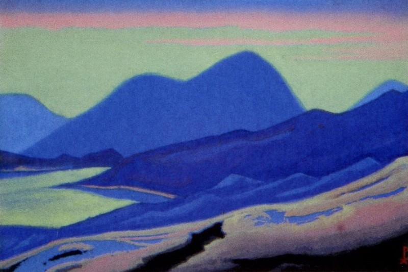 Mountain lake # 121. Roerich N.K. (Part 5)