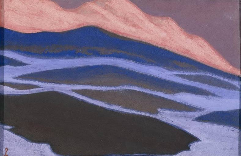Melting snow # 147 (Flaming sunset). Roerich N.K. (Part 5)