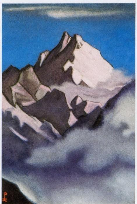 Гималаи #208 Туман, клубящийся у розовой вершины. Рерих Н.К. (Часть 5)