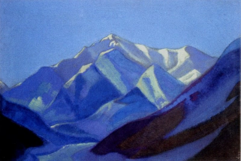 Himalayas # 72 Early morning in mountains. Roerich N.K. (Part 5)